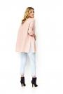 Luźny Sweter z Warkoczem na Przodzie - Różowy