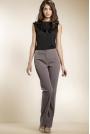 Klasyczne Eleganckie Spodnie w Kolorze Mocca
