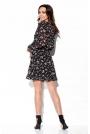 Wzorzysta Sukienka Kopertowa - Druk 15