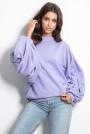Bluza z Bardzo Szerokim Rękawem - Fioletowa