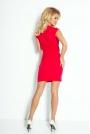 Czerwona Sukienka Mini z Zakładanym Dekoltem
