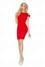 Czerwona Sukienka Bodycon z Rozcięciem na Ramionach