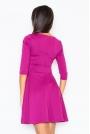 Elegancka Sukienka z Rozkloszowanym Dołem w Kolorze Fuksji