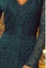 Zielona Koronkowa Sukienka Koktajlowa