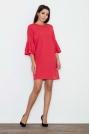 Czerwona Elegancka Sukienka z Hiszpańskim Rękawem