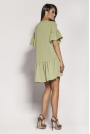 Zielona Dziewczęca Sukienka Letnia z Falbankami