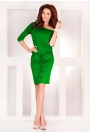 Zielona Sukienka Sportowa Ściągana w Pasie