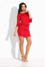 Czerwona Sukienka z Wiązanymi Ściągaczami