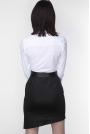 Biała Biznesowa Koszula z Czarną Lamówką