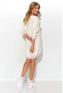 Sportowa Sukienka Pastelowa z Taśmami - Śmietankowa