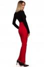 Czerwone Materiałowe Spodnie z Ozdobnymi Napami