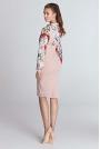 Różowa Ołówkowa Elegancka Sukienka z Szelkami