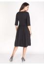Czarna Sukienka z Rozkloszowanym Dołem