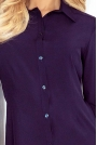 Granatowa Klasyczna Dopasowana Koszula