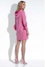 Amarantowa Sukienka Mini z Falbankami na Rękawach Uszyta