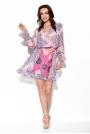 Wzorzysta Sukienka Kopertowa - Druk 16