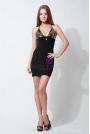 Seksowna Mini Sukienka Z Dodatkiem Cekinów