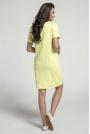 Limonkowa Sportowa Sukienka z Kieszenią Kangurką