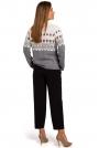 Klasyczny Sweter z Ozdobnym Wzorem - Model 2