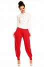 Czerwone Eleganckie Spodnie Typu Pumpy