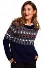 Klasyczny Sweter z Ozdobnym Wzorem - Model 1