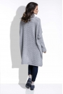 Szary Sweter Oversizowy z Luźnym Golfem