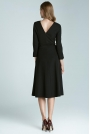 Czarna Elegancka Sukienka z Dekoltem na Plecach