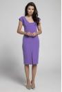 Fioletowa Wyjściowa Dopasowana Sukienka z Przewiązanym Wycięciem na Plecach