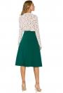 Zielona Klasyczna Trapezowa Spódnica Midi