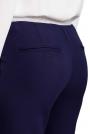 Atramentowe Nowoczesne Spodnie Cygaretki na Gumie