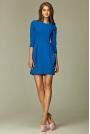 Praktyczna Sukienka Bombka Niebieska