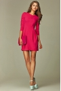 Praktyczna Sukienka Bombka Różowa