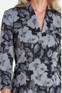 Sukienka z Dekoltem w Serek - Kwiaty