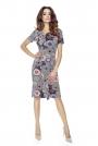 Sukienka Elegancka Mini z Plisą - Mozaika