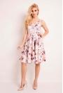 Sukienka Princeska z Kwiatowym Ciemnym Wzorem