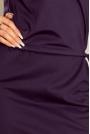Granatowa Sukienka z Niską Stójką