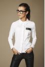 Biała klasyczna Koszula z Pajetami