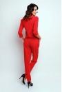 Elegancki Wyjściowy Kombinezon z Suwakiem - Czerwony