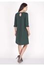 Zielona Sukienka Trapezowa Mini z Uroczymi Kokardkami