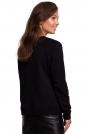 Czarna Klasyczna Bluza Dresowa z Nadrukiem