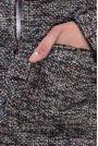 Żakiet z Kolorowej Tweedowej Tkaniny z Pagonami