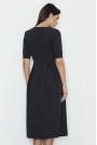 Czarna Sukienka Elegancka Wizytowa Midi
