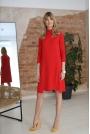 Luźna Sukienka z Kieszeniami - Czerwona