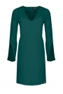 Zielona Sukienka Koktajlowa Mini z Rozciętym Rękawem