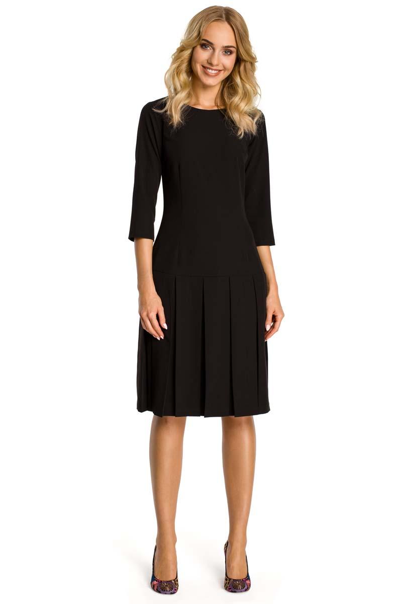 b3b51a75f6 Czarna Sukienka z Obniżonym Stanem - Molly.pl