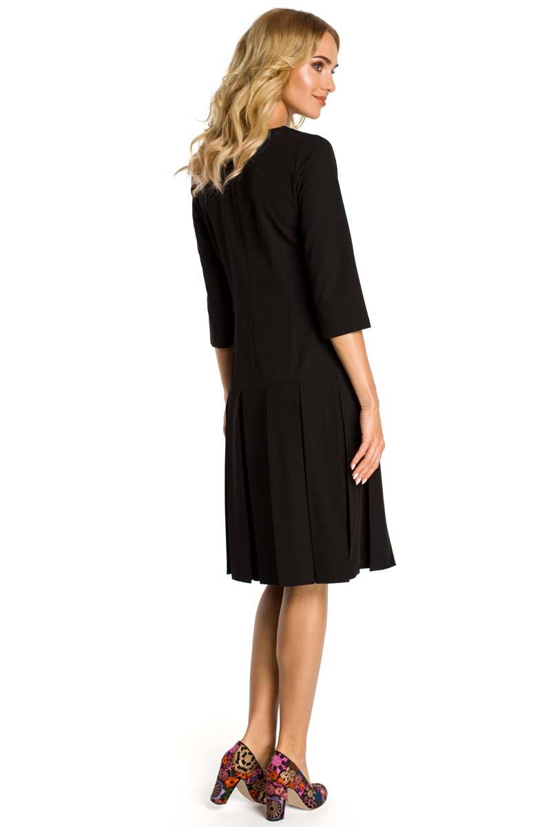a6287f74cd Czarna Sukienka z Obniżonym Stanem Czarna Sukienka z Obniżonym Stanem