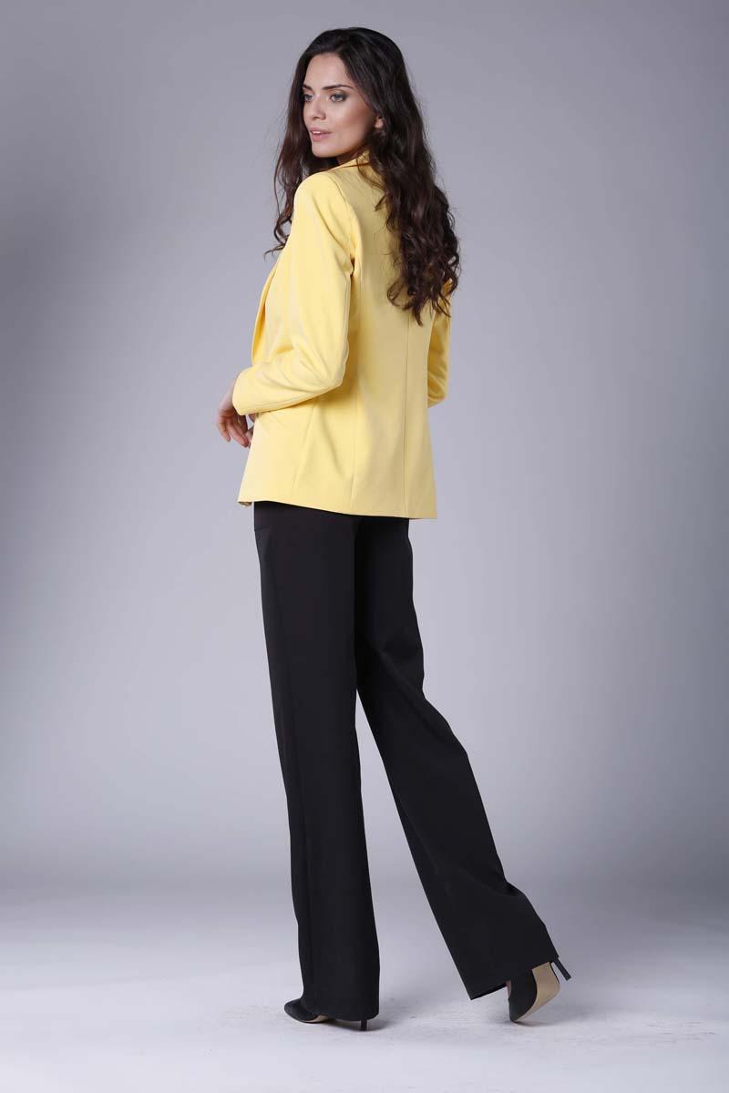 3515228fa847f Żółty Elegancki Klasyczny Żakiet bez Zapięcia Żółty Elegancki Klasyczny  Żakiet bez Zapięcia