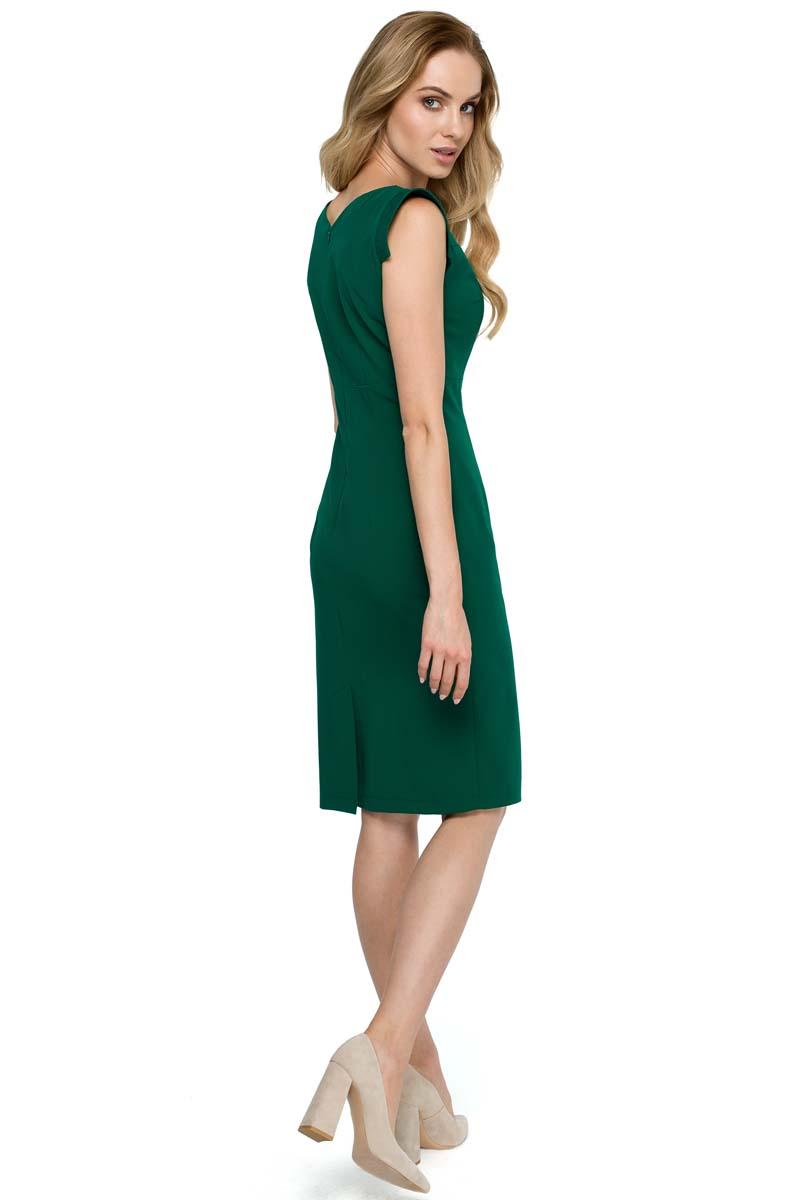 9ec28671e7 Zielona Dopasowana Sukienka z Asymetrycznym Dekoltem Zielona Dopasowana  Sukienka z Asymetrycznym Dekoltem