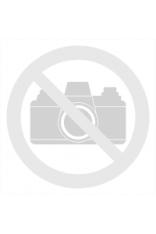 Wzorzysta Prosta Bluzka z Mini Rękawkiem - Niebieskie Parasolki