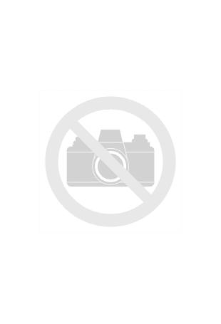 Granatowa Prosta Wizytowa Sukienka z Rękawem 3/4 z Kontrastowymi Lamówkami